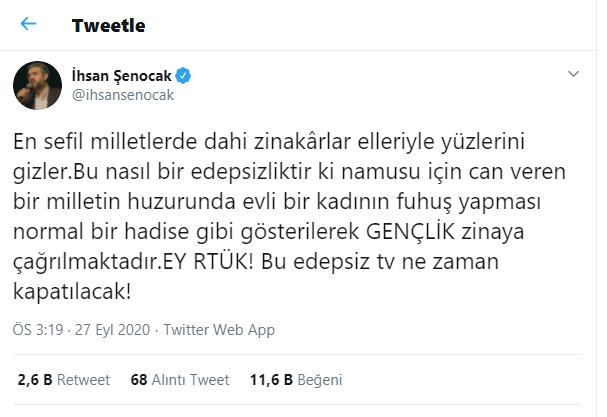 İhsan Şenocak; 'ATV'ye 'din düşmanı' dedi