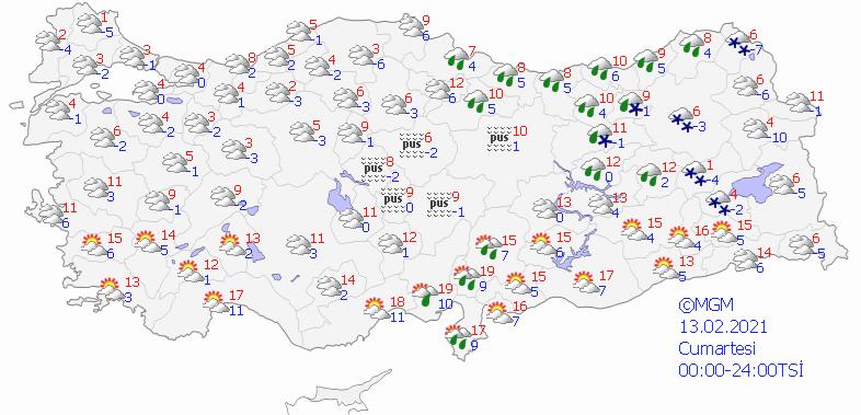 Türkiye'de Hava Durumu
