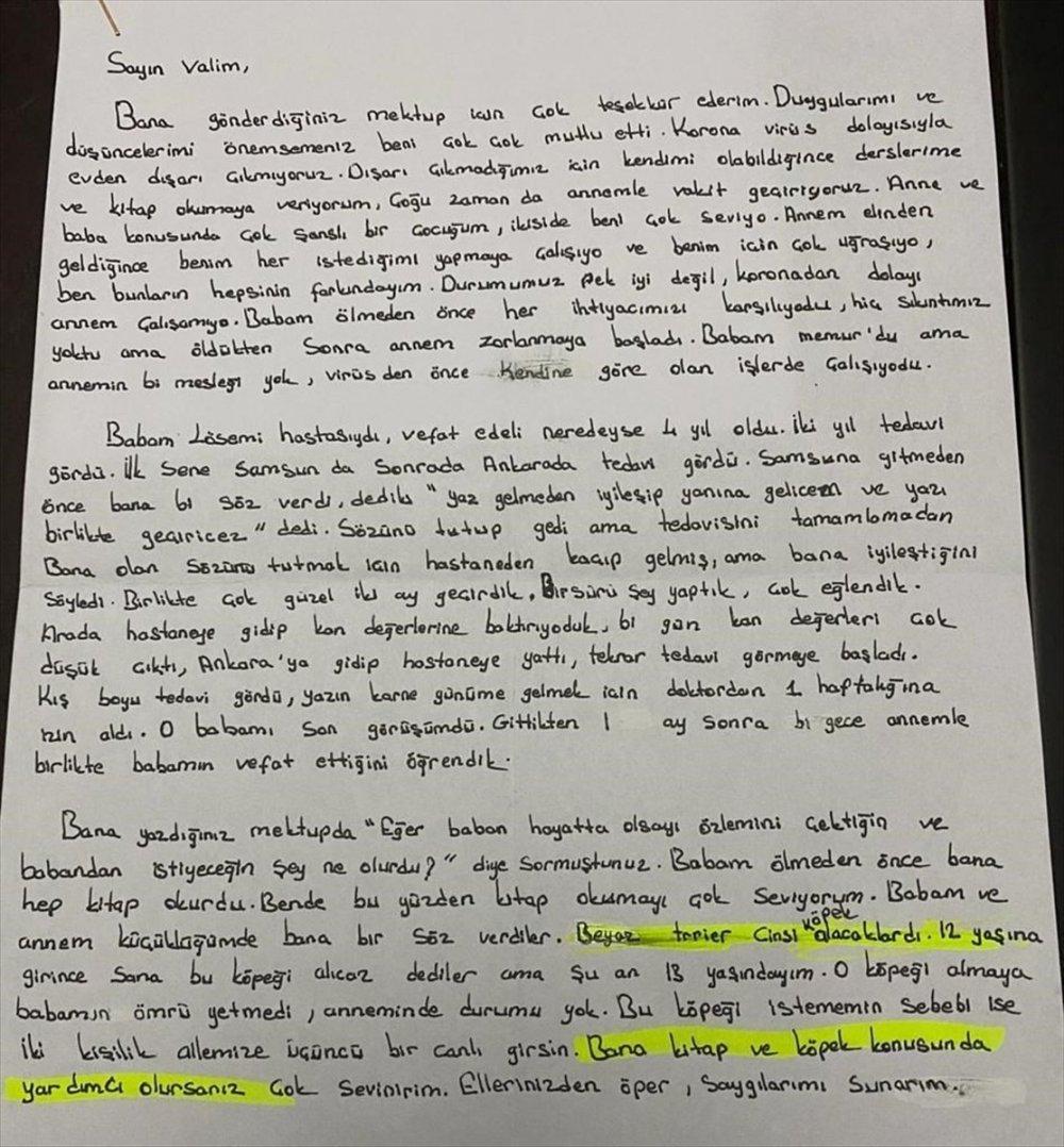 Ordu Valisi Sonel, Mektup Yazdığı Yetim Çocukların İsteklerini Yerine Getirdi